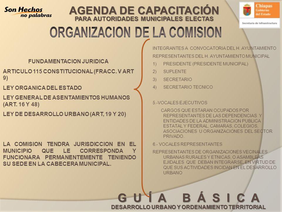 AGENDA DE CAPACITACIÓN PARA AUTORIDADES MUNICIPALES ELECTAS G U Í A B Á S I C A DESARROLLO URBANO Y ORDENAMIENTO TERRITORIAL FUNDAMENTACION JURIDICA A