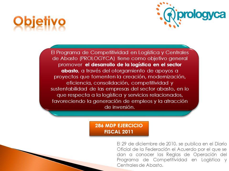 El Programa de Competitividad en Logística y Centrales de Abasto (PROLOGYCA) tiene como objetivo general promover el desarrollo de la logística en el