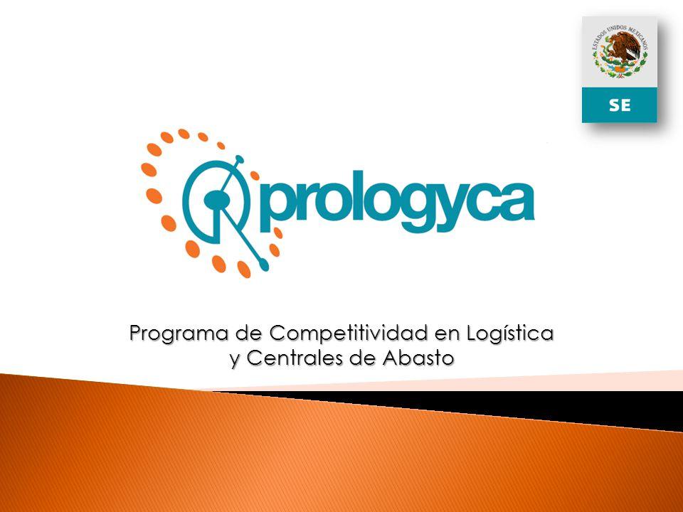 El Programa de Competitividad en Logística y Centrales de Abasto (PROLOGYCA) tiene como objetivo general promover el desarrollo de la logística en el sector abasto, a través del otorgamiento de apoyos a proyectos que fomenten la creación, modernización, eficiencia, consolidación, competitividad y sustentabilidad de las empresas del sector abasto, en lo que respecta a la logística y servicios relacionados, favoreciendo la generación de empleos y la atracción de inversión.