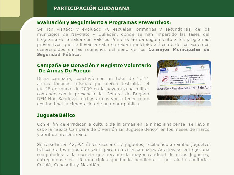 Se han visitado y evaluado 70 escuelas: primarias y secundarias, de los municipios de Navolato y Culiacán, donde se han impartido las fases del Progra