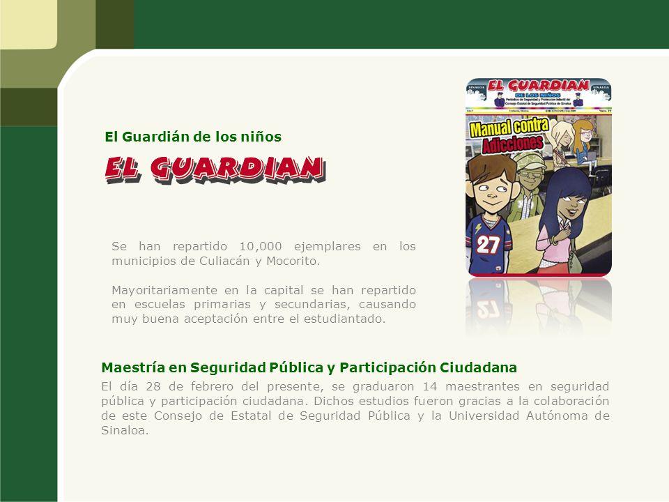 Se han repartido 10,000 ejemplares en los municipios de Culiacán y Mocorito. Mayoritariamente en la capital se han repartido en escuelas primarias y s