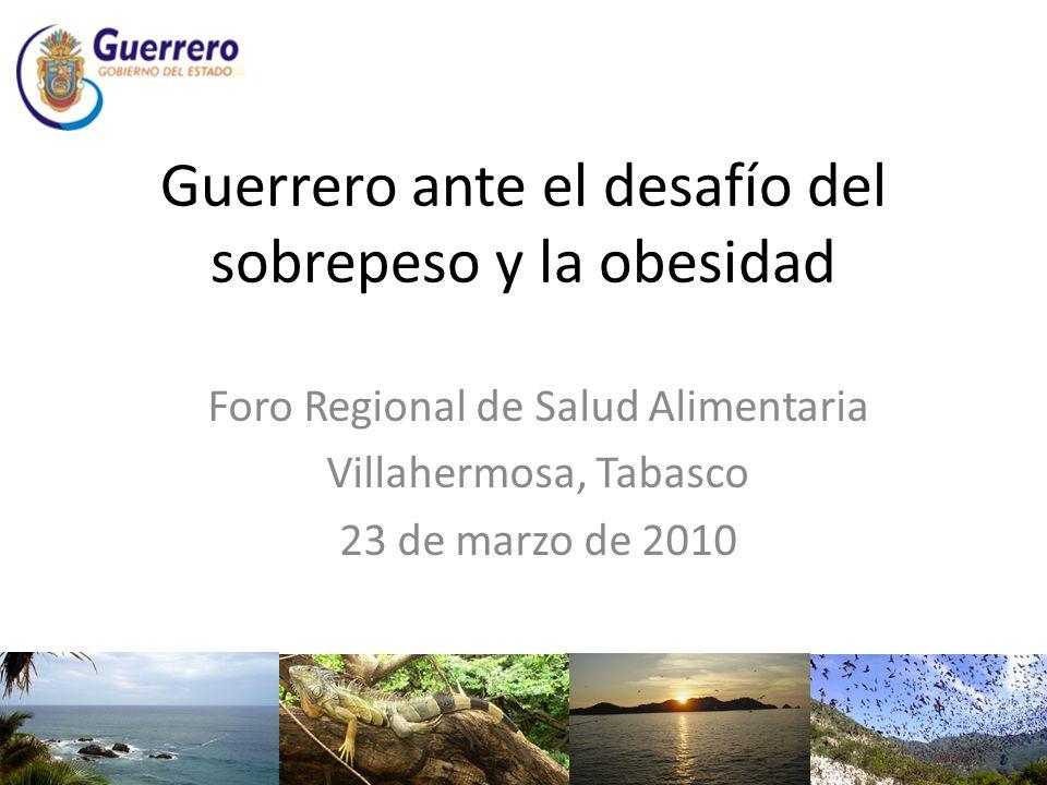 Guerrero ante el desafío del sobrepeso y la obesidad Foro Regional de Salud Alimentaria Villahermosa, Tabasco 23 de marzo de 2010