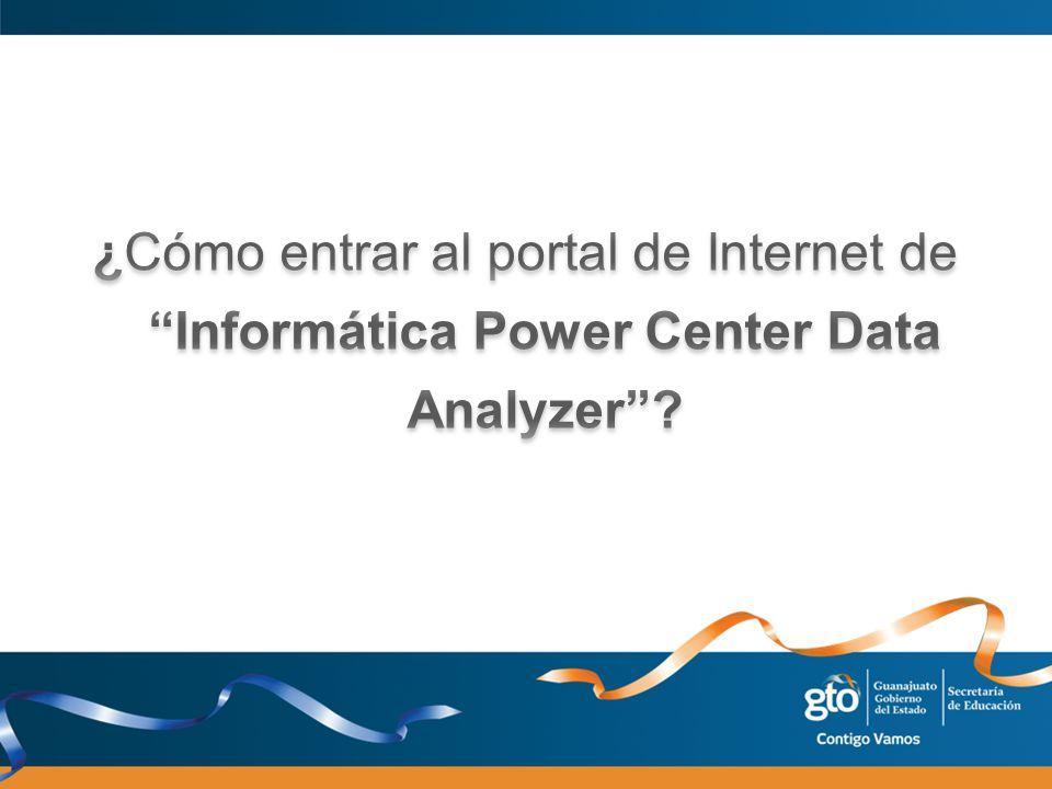 Dar click en el icono de Internet Explorer Escribir en la barra de direcciones la siguiente dirección: http://indicadores.seg.guanajuato.gob.mx/ias