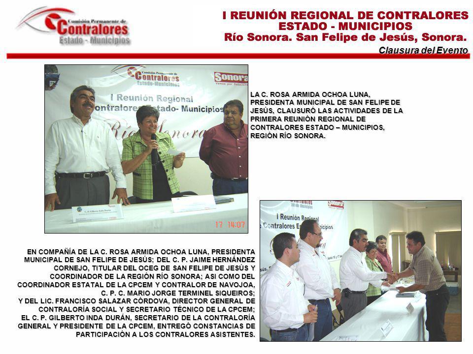 Clausura del Evento EN COMPAÑÍA DE LA C.