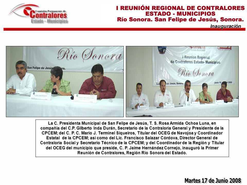 Inauguración La C. Presidenta Municipal de San Felipe de Jesús, T.