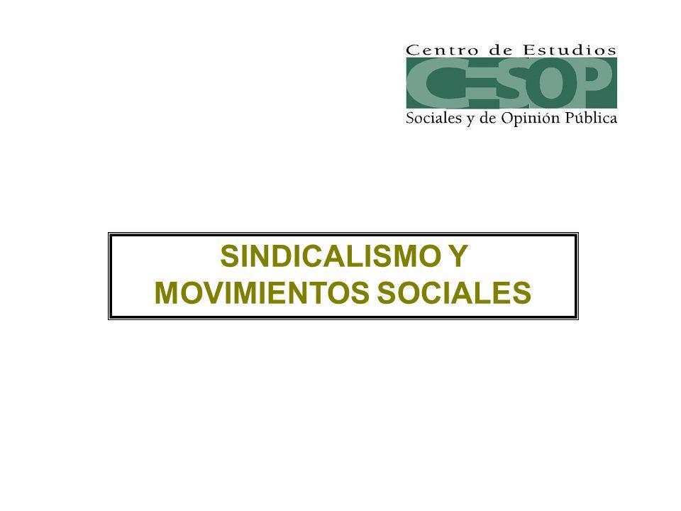 SINDICALISMO Y MOVIMIENTOS SOCIALES