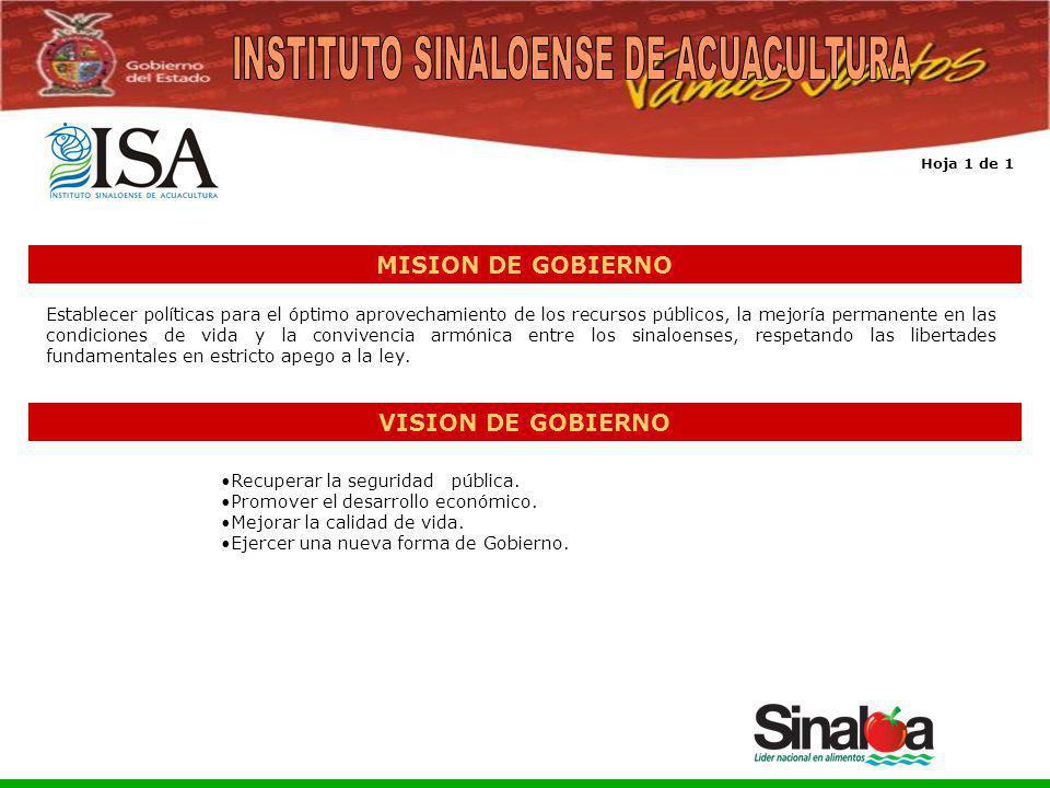 Sistema Integral de Planeación, Programación y Presupuestación del Gasto Público Proceso para el Ejercicio Fiscal del año 2005 MISION DE GOBIERNO Esta