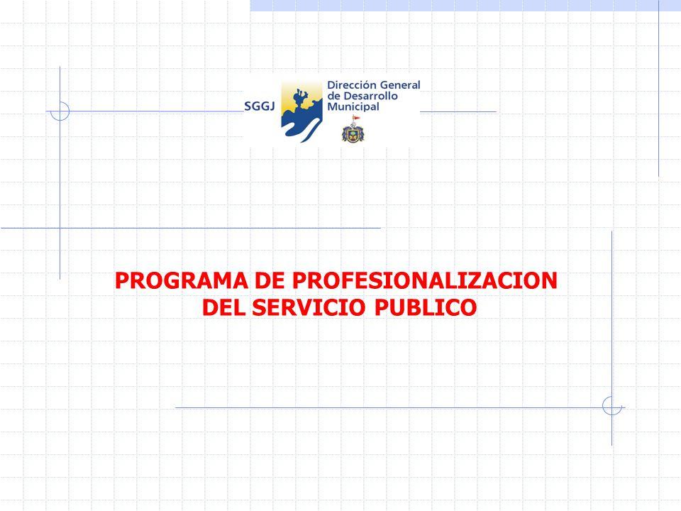 PROGRAMA DE PROFESIONALIZACION DEL SERVICIO PUBLICO