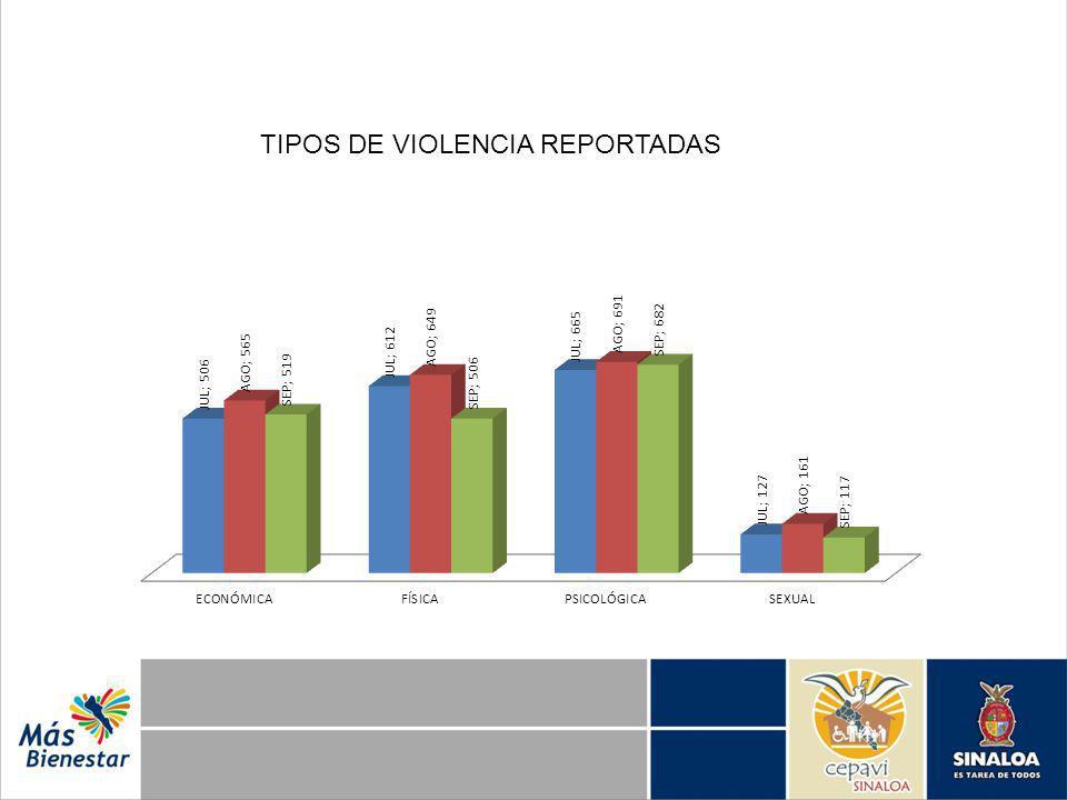 TIPOS DE VIOLENCIA REPORTADAS