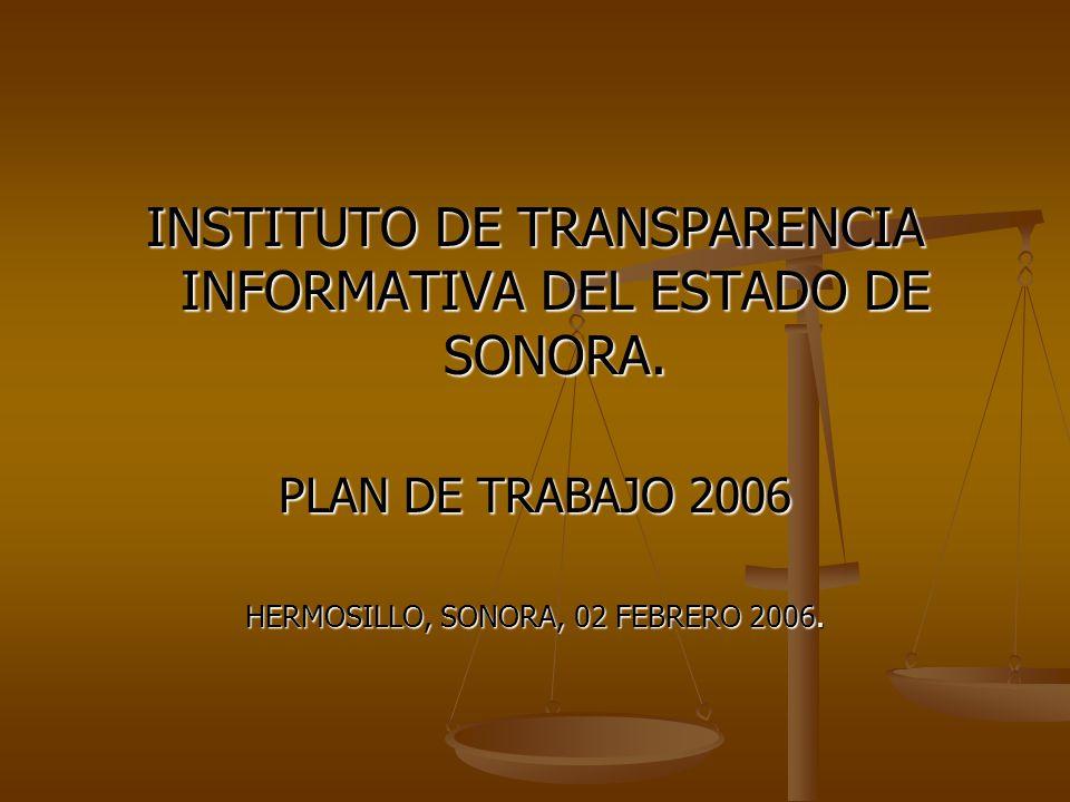 INSTITUTO DE TRANSPARENCIA INFORMATIVA DEL ESTADO DE SONORA.
