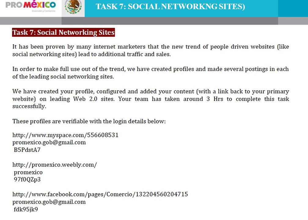 TASK 7: SOCIAL NETWORKNG SITES)