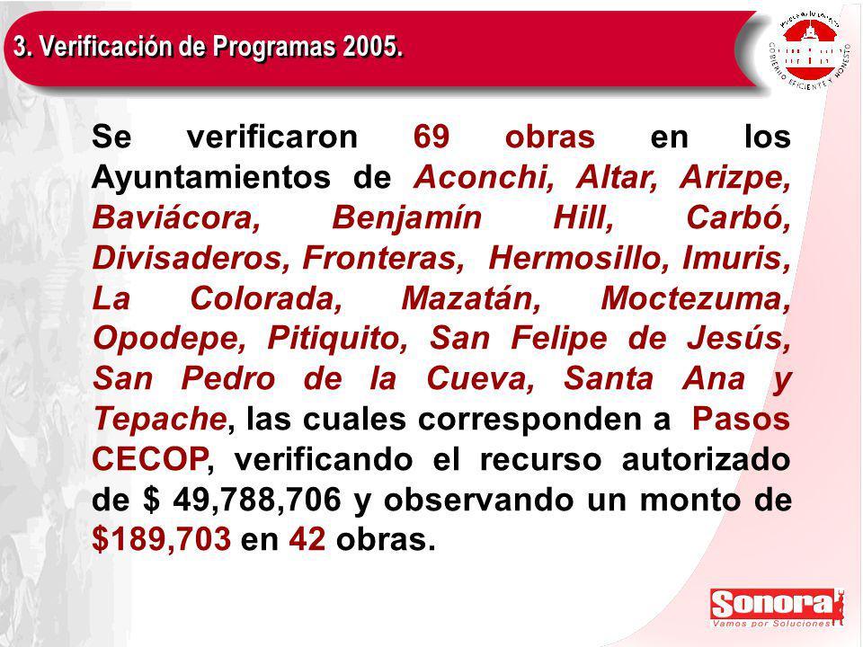 3. Verificación de Programas 2005.