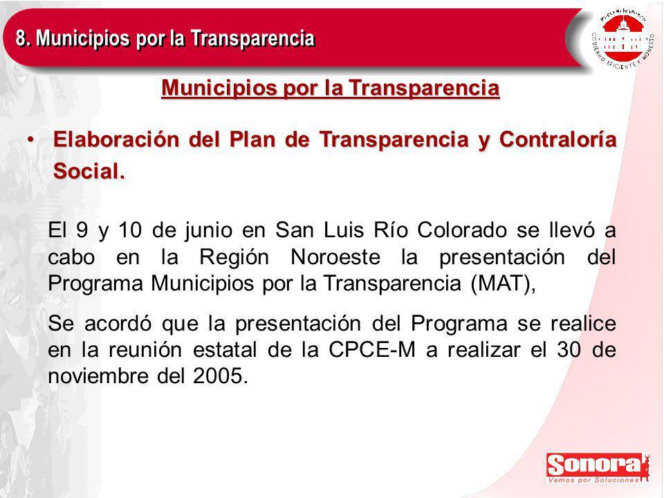 Municipios por la Transparencia Elaboración del Plan de Transparencia y Contraloría Social.Elaboración del Plan de Transparencia y Contraloría Social.