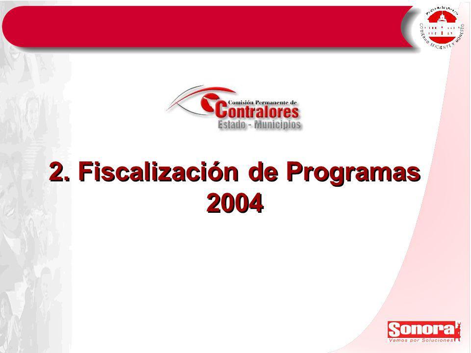 2. Fiscalización de Programas 2004