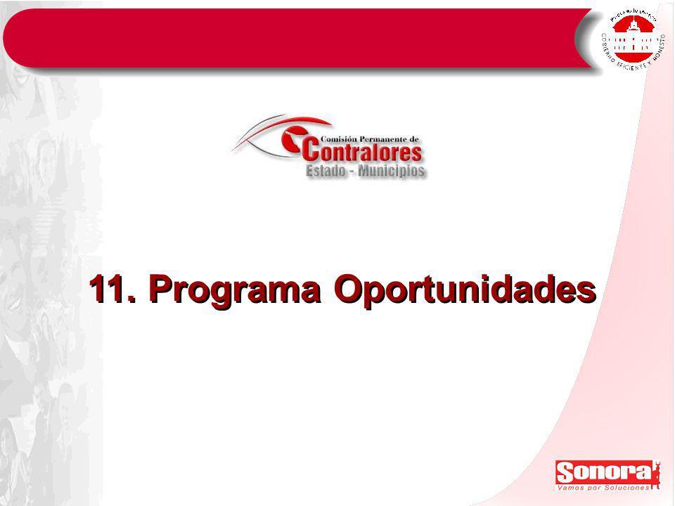11. Programa Oportunidades