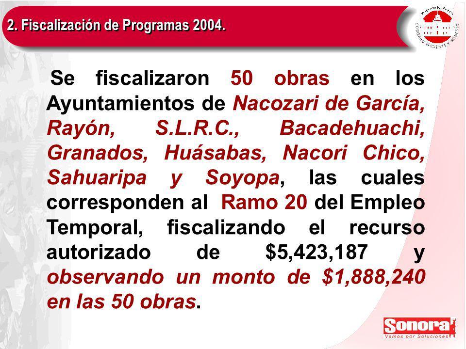 2. Fiscalización de Programas 2004.