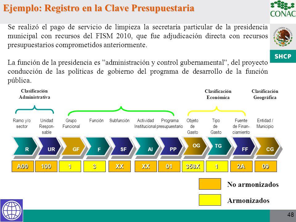 48 Se realizó el pago de servicio de limpieza la secretaría particular de la presidencia municipal con recursos del FISM 2010, que fue adjudicación di