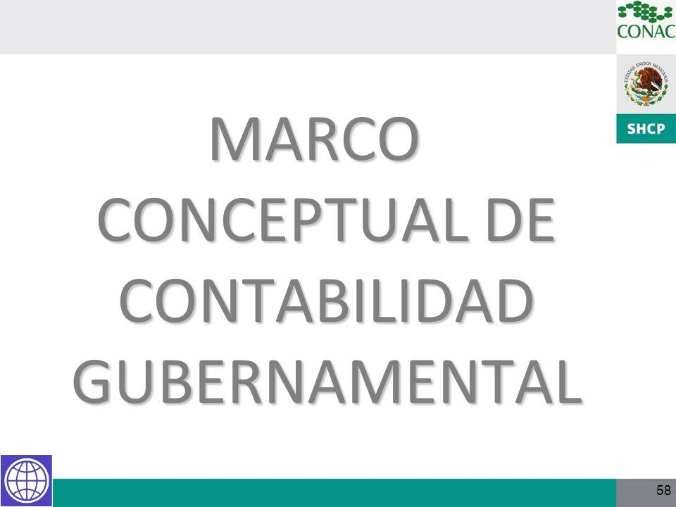 58 MARCO CONCEPTUAL DE CONTABILIDAD GUBERNAMENTAL