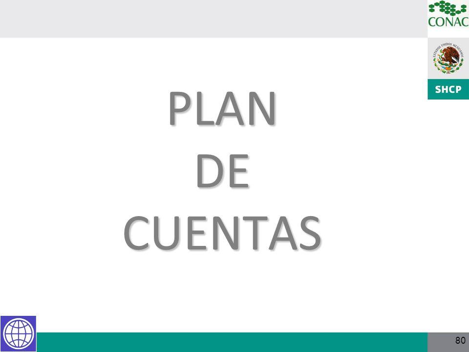 80 PLAN DE CUENTAS