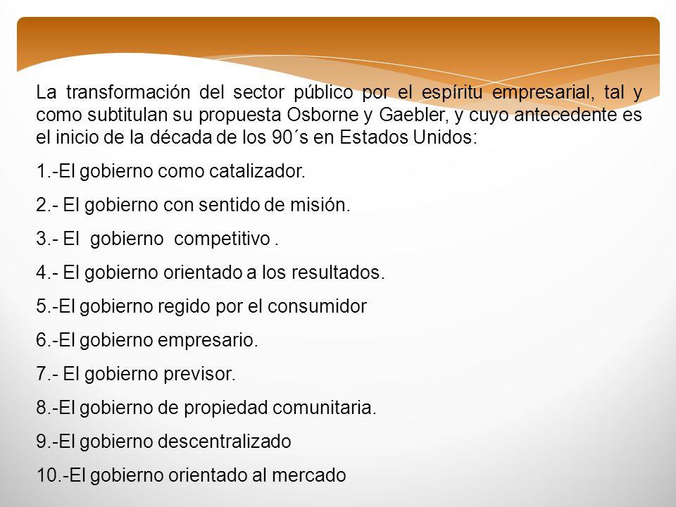 ECONOMIA DE MERCADO ESTADO LIBERAL CAMBIOS CONSTITUCIONALES POLITICA FISCAL PASIVA CAMBIOS LEGISLATIVOS (Deuda, Educación, Salud, Coordinación Fiscal, Seguridad Pública) CAMBIO EN LA OFERTA DE BIENES REGIONALIZA- CION DE POLÍTICAS DESREGULA CION CAMBIOS EN NORMAS (Desregulación; normas presupuestarias) POLÍTICA PRESUPUESTAL: DIMENSIÓN ORIENTACIÓN AUTOSUFICIEN CIA DESCENTRALI- ZACIÓN GOBIERNO ORIENTADO AL MERCADO (Demanda) GOBIERNO EMPRESARIO (Gerencialismo) GOBIERNO MÍNIMO (Reduccionismo de Estado) GOBIERNO DESCENTRALIZADO (Atomización de agencias y Fomento al Individualismo) NUEVO PARADIGMA DE ADMINISTRACIÓN PÚBLICA ESQUEMA REFERENCIAL PARA EL ANALISIS DE LA POLÍTICA PRESUPUESTAL Esquema N° 1