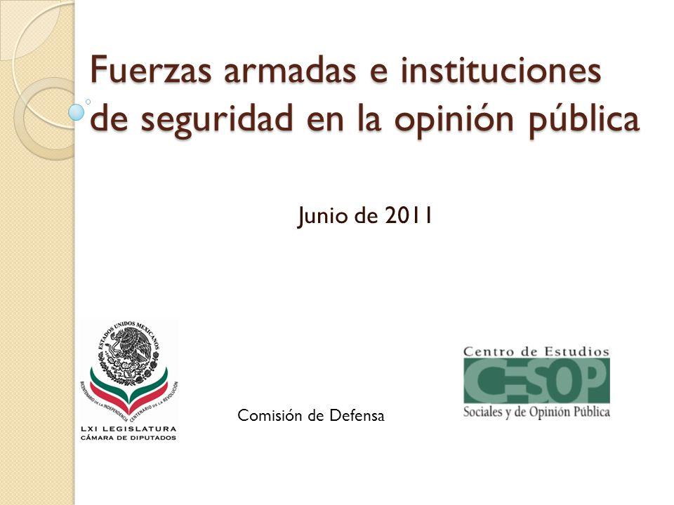 Fuerzas armadas e instituciones de seguridad en la opinión pública Junio de 2011 Comisión de Defensa