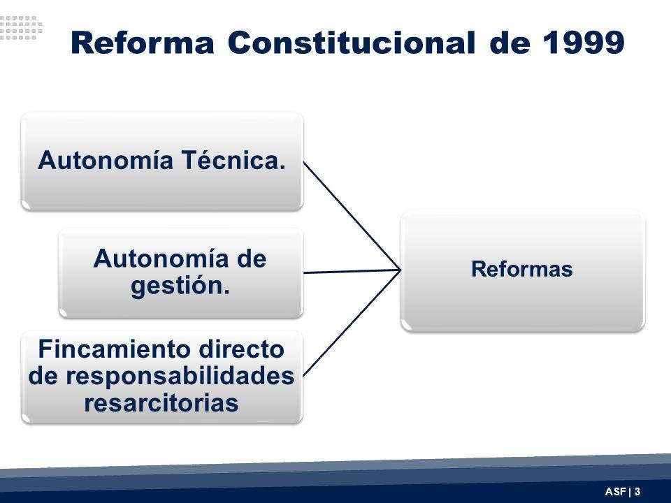 Reforma Constitucional de 1999 Reformas Autonomía Técnica.
