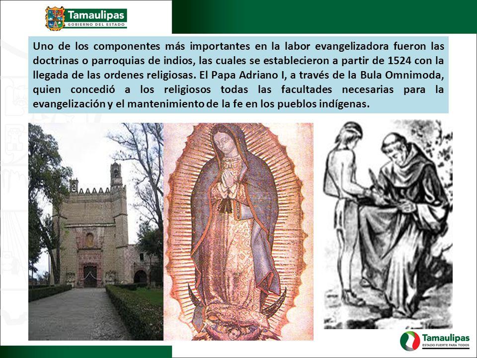 Uno de los componentes más importantes en la labor evangelizadora fueron las doctrinas o parroquias de indios, las cuales se establecieron a partir de