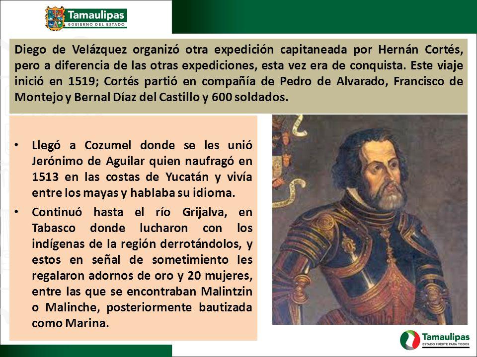 Diego de Velázquez organizó otra expedición capitaneada por Hernán Cortés, pero a diferencia de las otras expediciones, esta vez era de conquista. Est