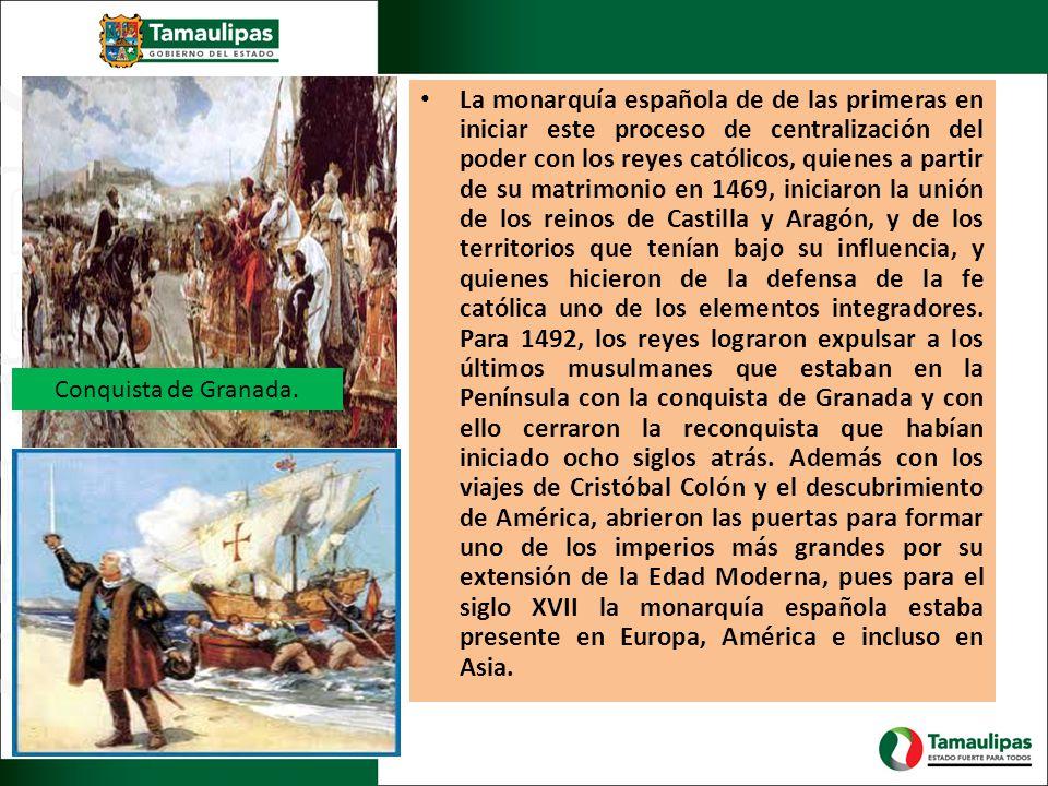La monarquía española de de las primeras en iniciar este proceso de centralización del poder con los reyes católicos, quienes a partir de su matrimoni