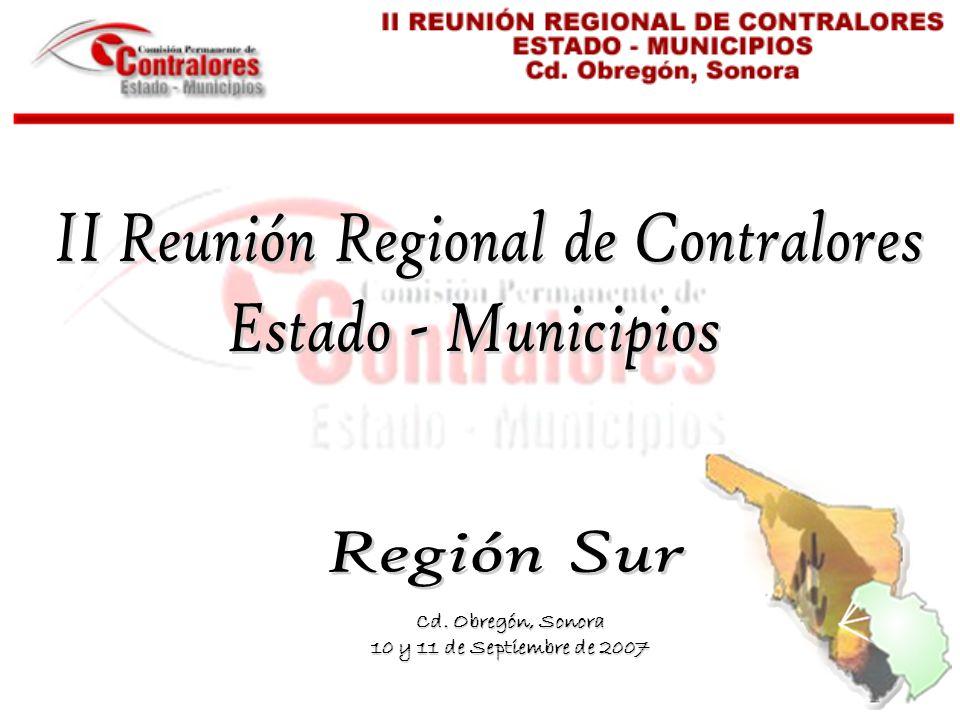 Cd. Obregón, Sonora 10 y 11 de Septiembre de 2007