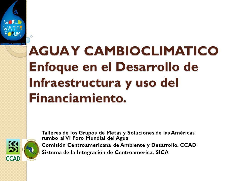 AGUA Y CAMBIOCLIMATICO Enfoque en el Desarrollo de Infraestructura y uso del Financiamiento.