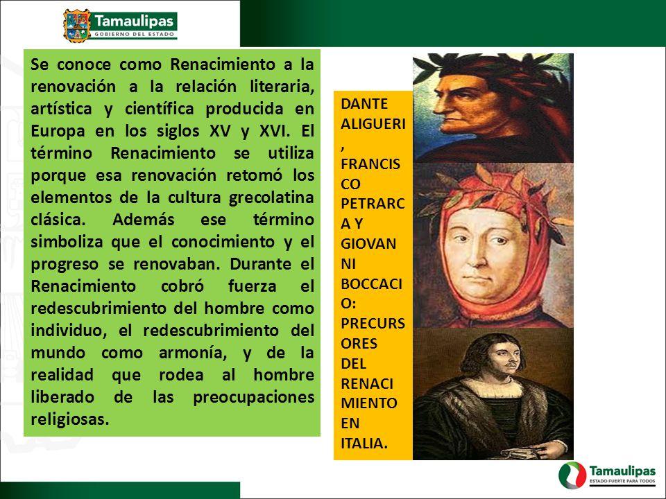 Se conoce como Renacimiento a la renovación a la relación literaria, artística y científica producida en Europa en los siglos XV y XVI. El término Ren