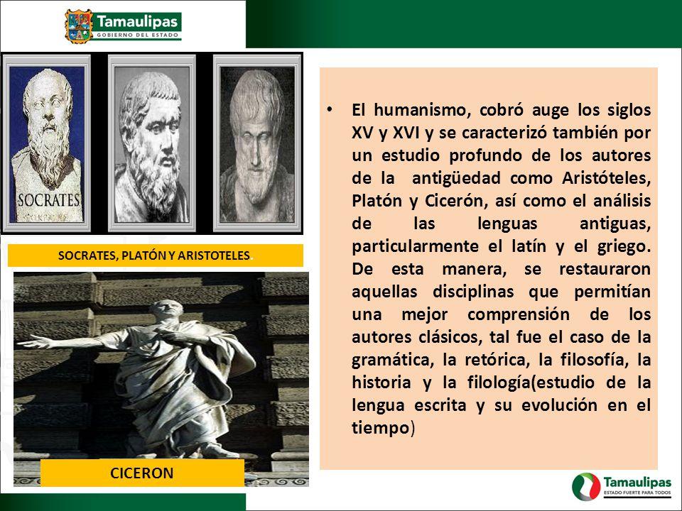 El humanismo, cobró auge los siglos XV y XVI y se caracterizó también por un estudio profundo de los autores de la antigüedad como Aristóteles, Platón