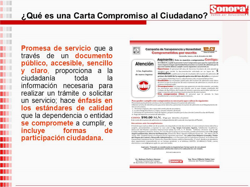 Promesa de servicio que a través de un documento público, accesible, sencillo y claro, proporciona a la ciudadanía toda la información necesaria para