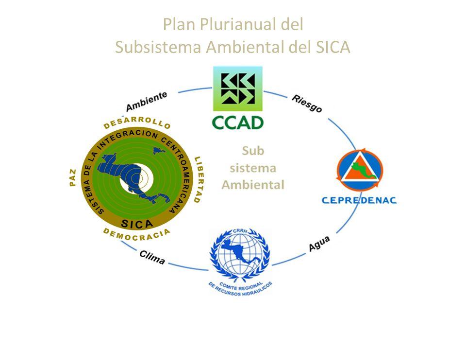 Plan Plurianual del Subsistema Ambiental del SICA