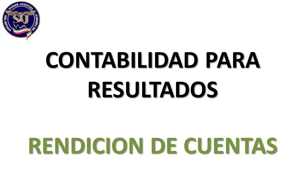 CONTABILIDAD PARA RESULTADOS RENDICION DE CUENTAS