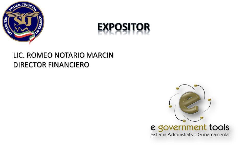 LIC. ROMEO NOTARIO MARCIN DIRECTOR FINANCIERO