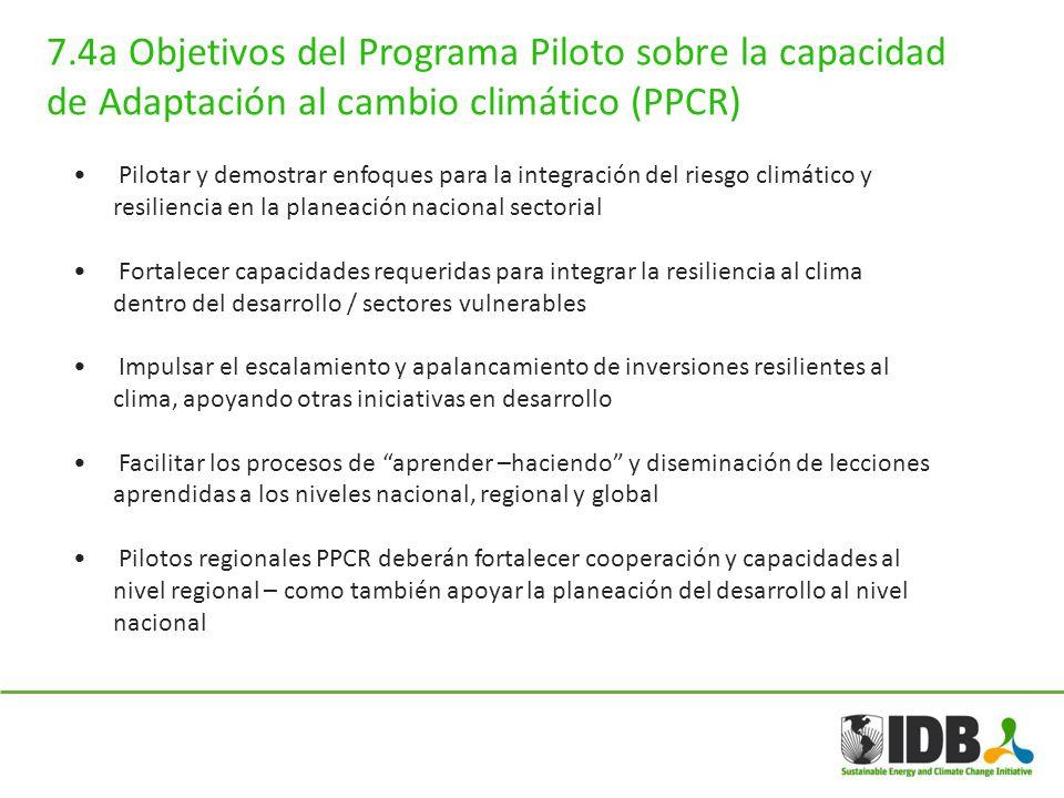 Pilotar y demostrar enfoques para la integración del riesgo climático y resiliencia en la planeación nacional sectorial Fortalecer capacidades requeri