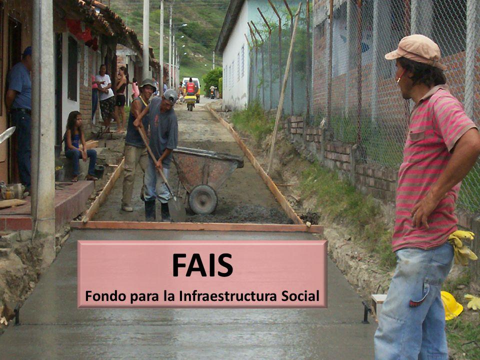 FAIS Fondo para la Infraestructura Social