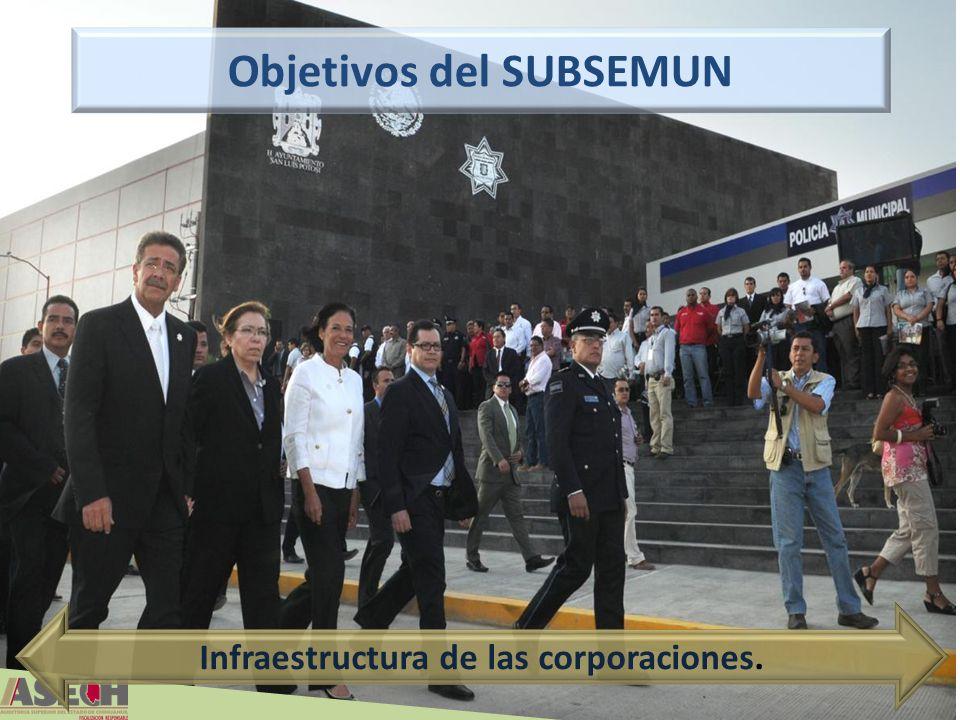 62 Infraestructura de las corporaciones. Objetivos del SUBSEMUN
