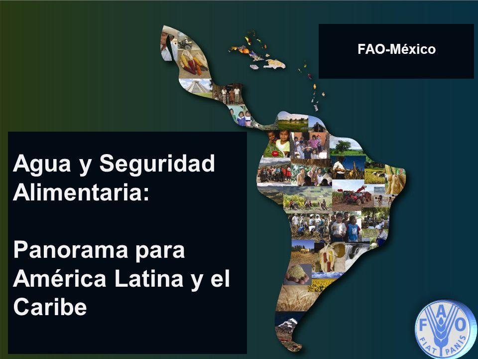 Agua y Seguridad Alimentaria: Panorama para América Latina y el Caribe FAO-México