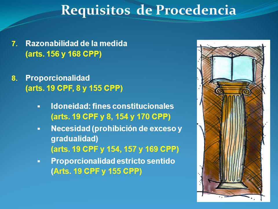 Requisitos de Procedencia 7. Razonabilidad de la medida (arts.