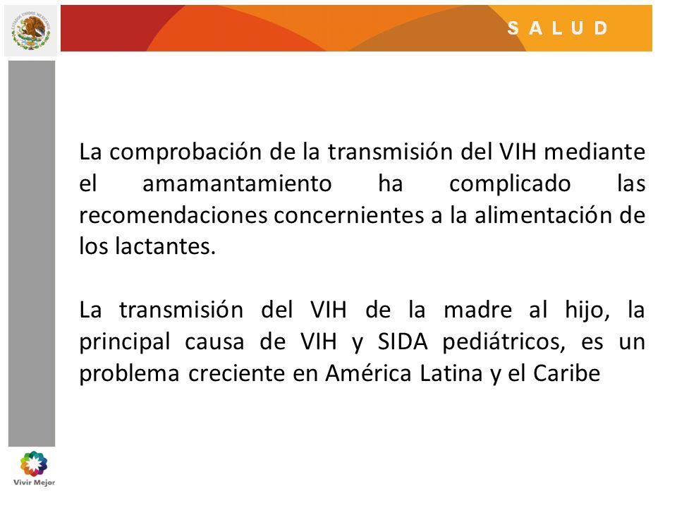 La comprobación de la transmisión del VIH mediante el amamantamiento ha complicado las recomendaciones concernientes a la alimentación de los lactante