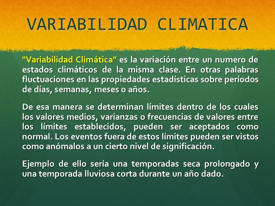 VARIABILIDAD CLIMATICA