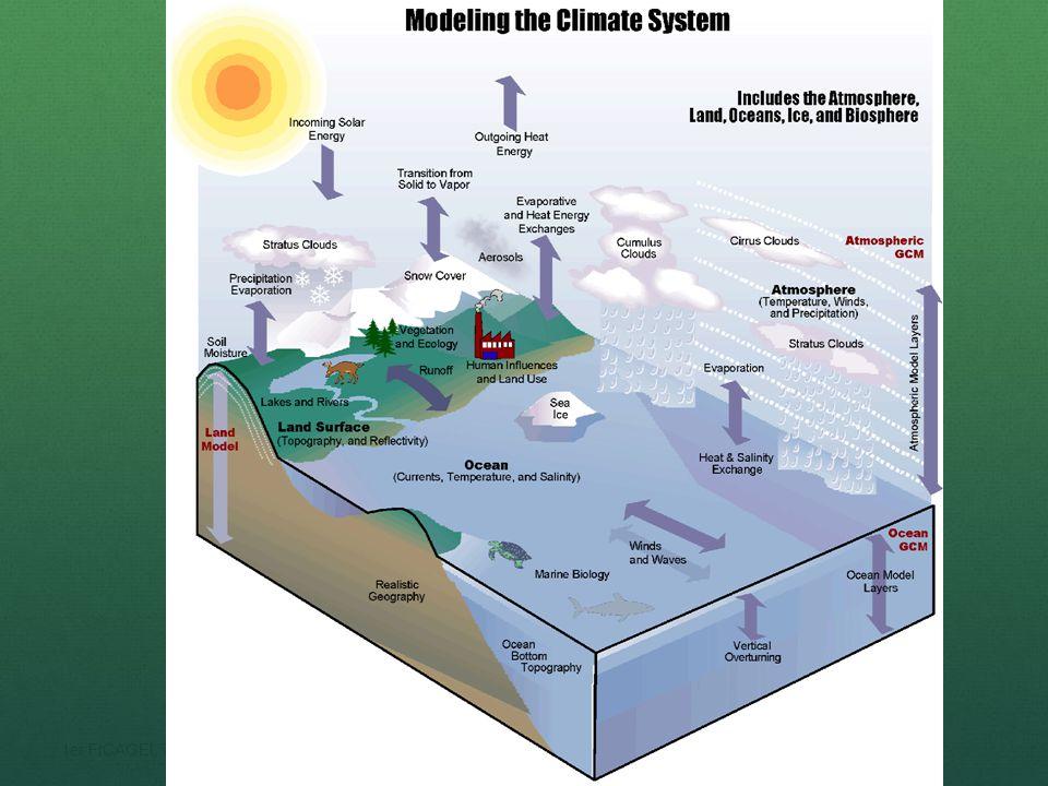 (IPCC), 0.6°C/100 años.El doble de gases de invernadero incrementaría la temp (T) entre 1-3.5°C.