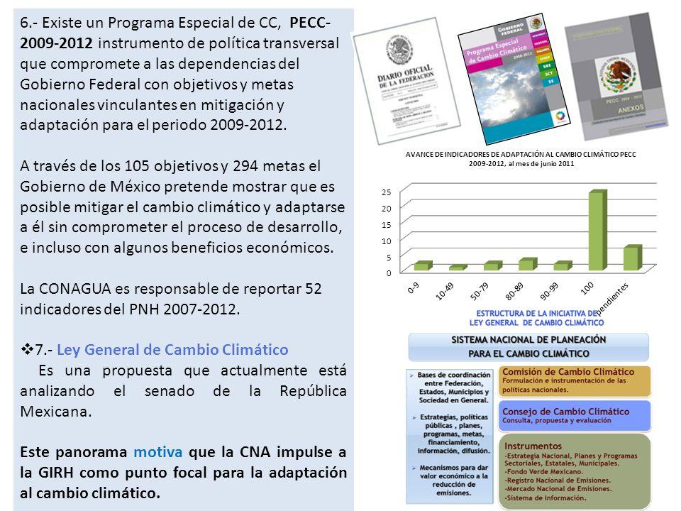 Estrategia Nacional de Recursos Hídricos relativa a la Adaptación al Cambio Climático (ENRHyCC) I.Mantener y fortalecer los esfuerzos positivos en el sector agua de México con respecto a las medidas de adaptación.