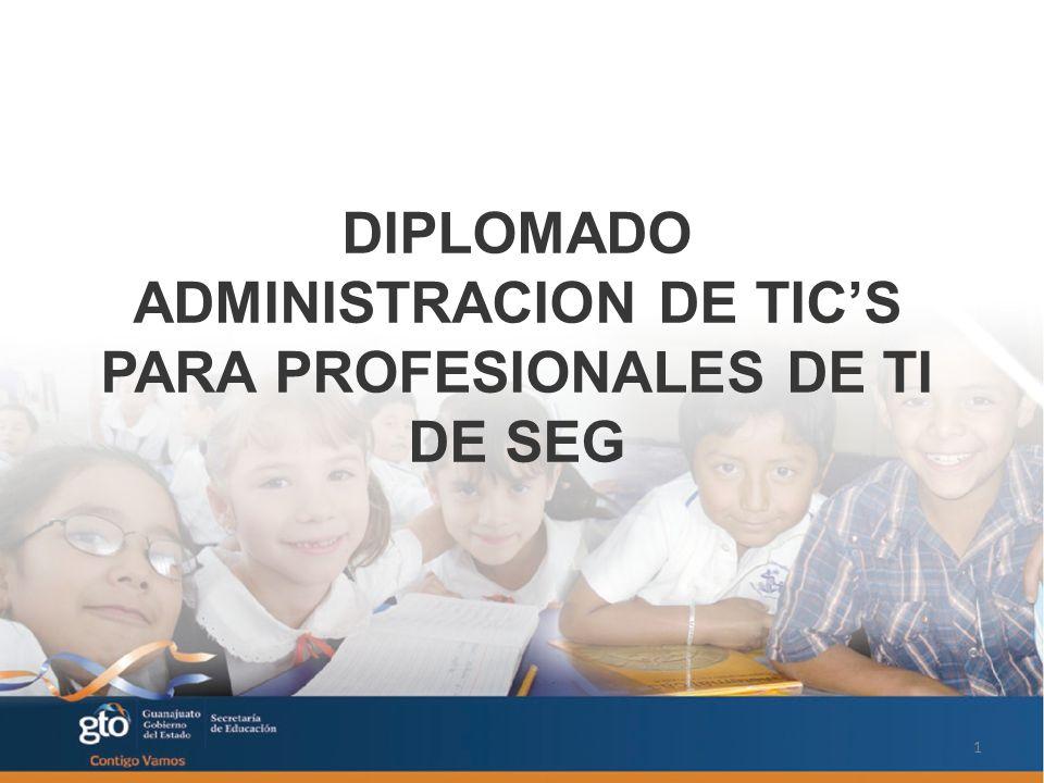 DIPLOMADO ADMINISTRACION DE TICS PARA PROFESIONALES DE TI DE SEG 1