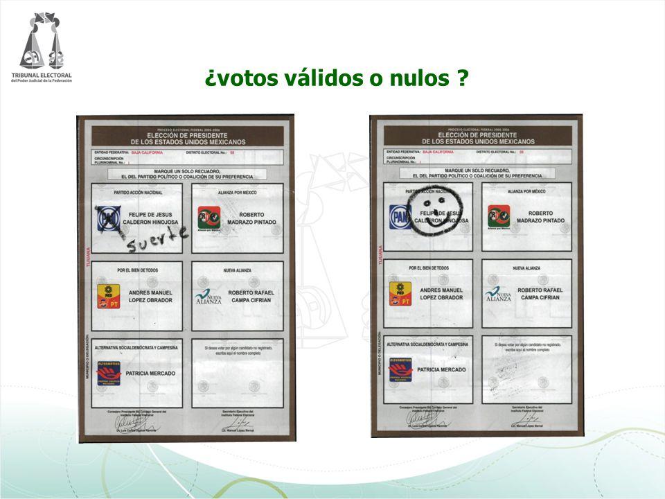 ¿votos válidos o nulos ?