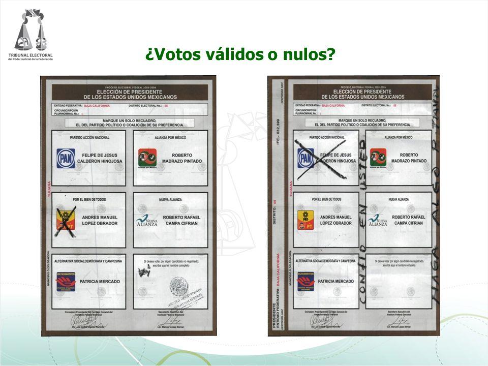 ¿Votos válidos o nulos?