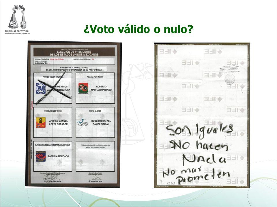 ¿Voto válido o nulo?
